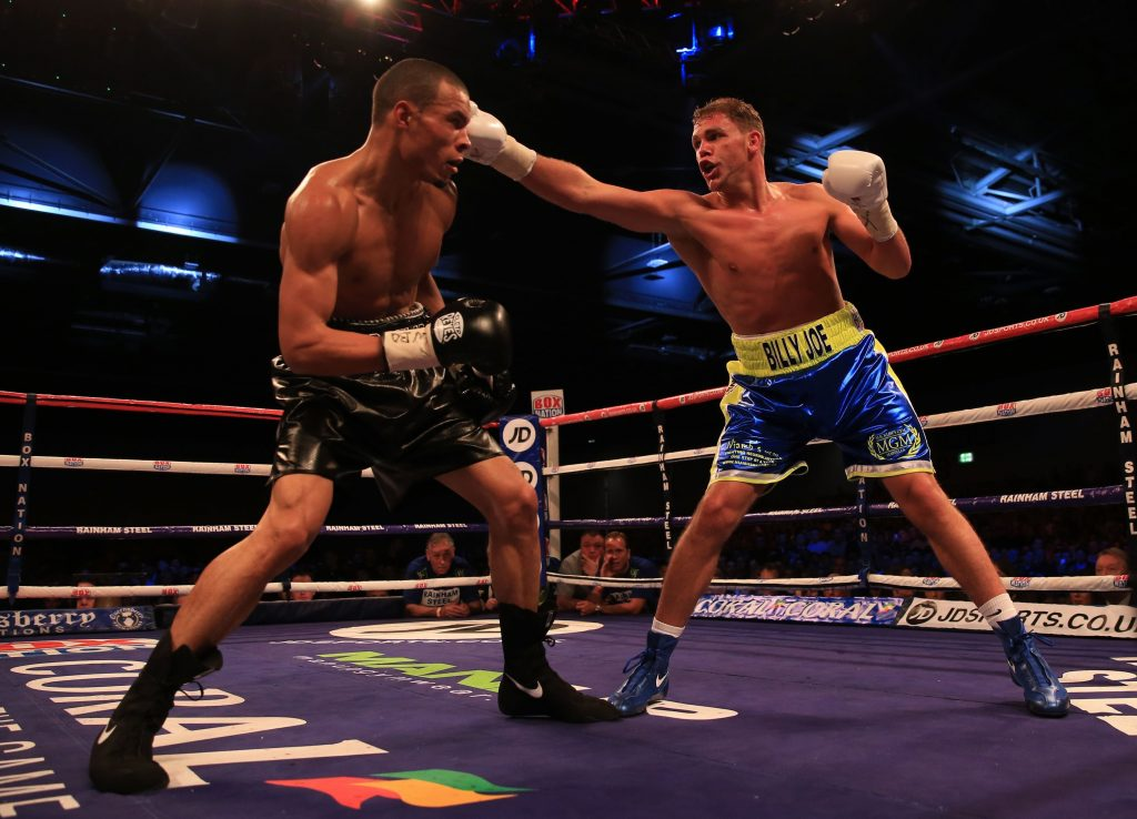 Chris Eubank Junior (left) in action against Billy Joe Saunders