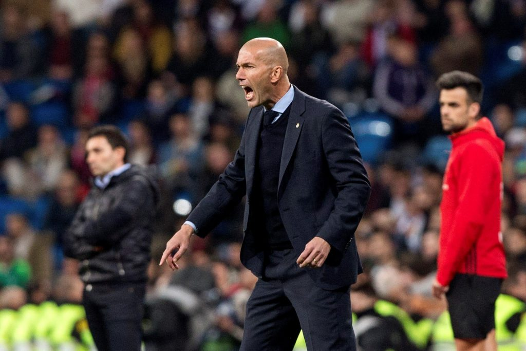 Real Madrid's head coach Zinedine Zidane