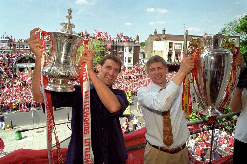 Tony Adams and Arsene Wenger