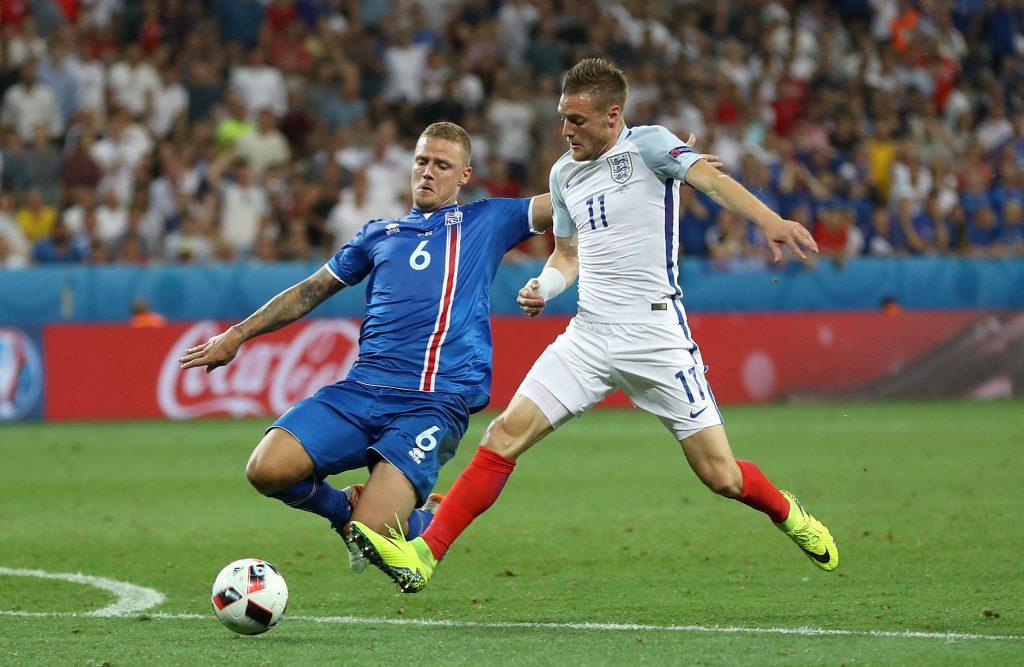 Ragnar Sigurdsson and Jamie Vardy
