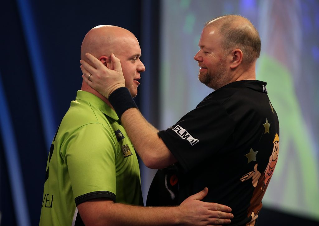 Michael van Gerwen after winning against Raymond van Barneveld.