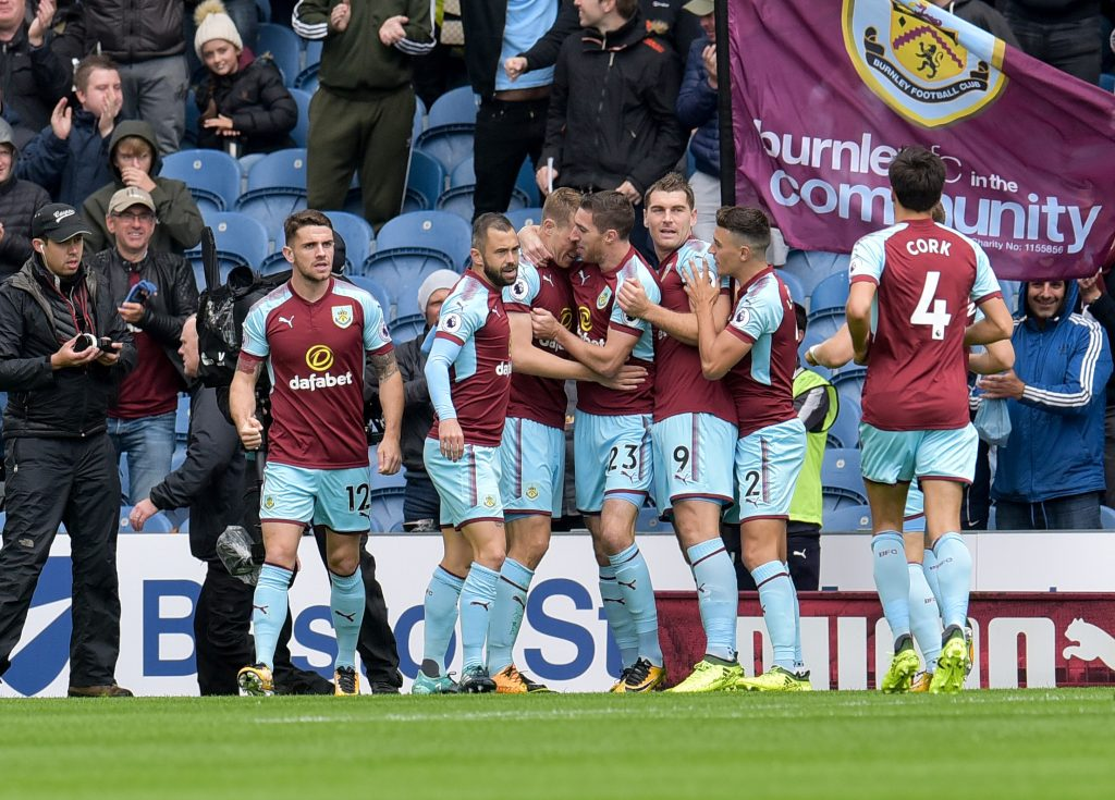Burnley's Chris Wood celebrates