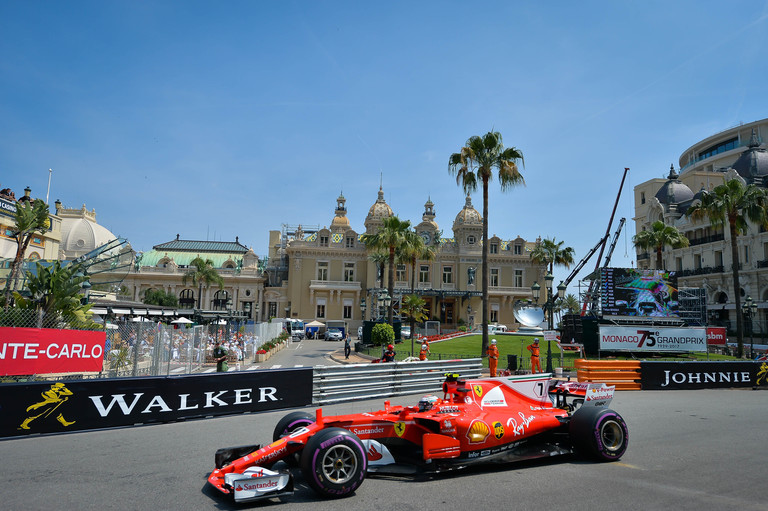 Ferrari during FP1 of the 2017 Monaco Grand Prix