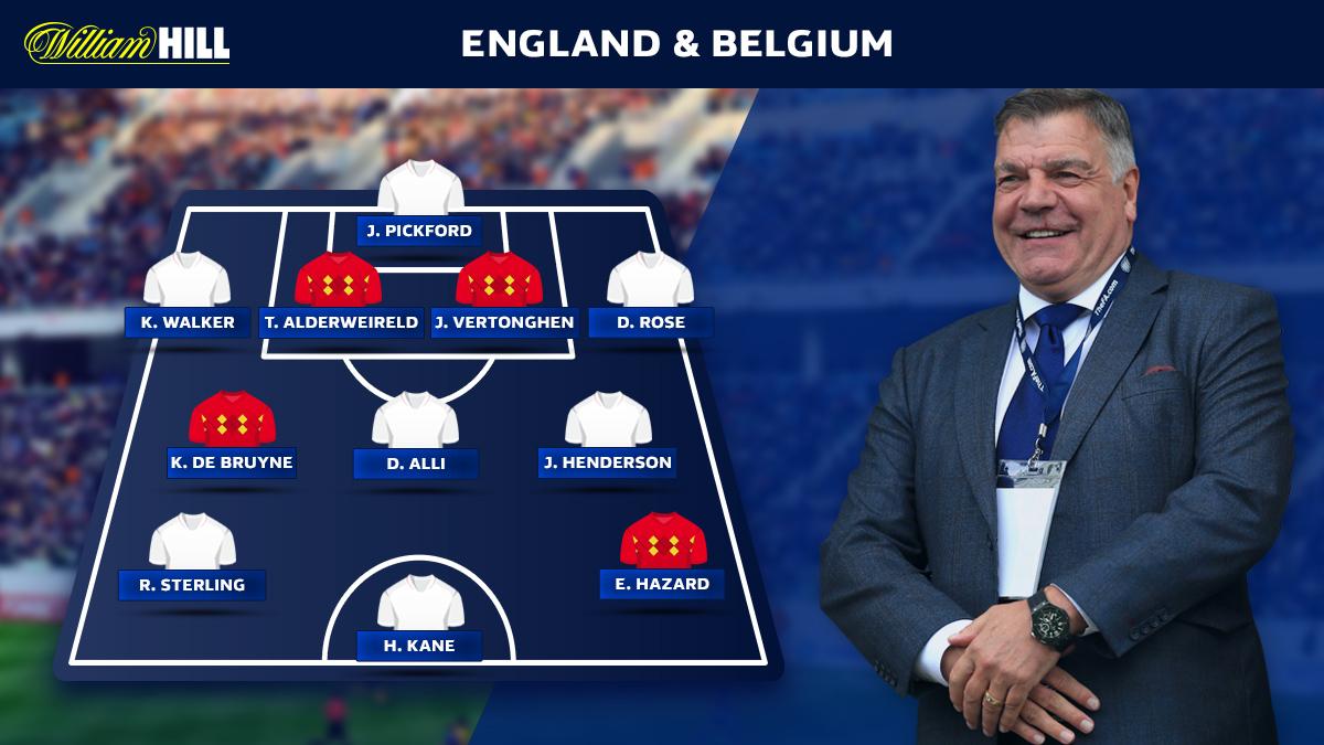 Sam Allardyce's combined Belgium x England XI