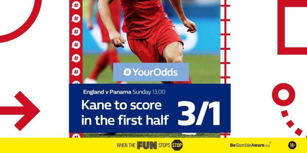 England vs Panama featured #YourOdds market