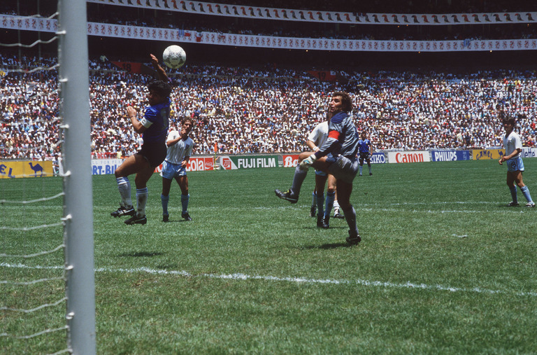 VAR would have ruled out the infamous 'Hand of God'