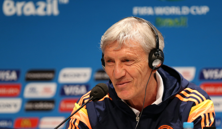 World Cup 2018 Group H Colombia manager Jose Pekerman at a press conference