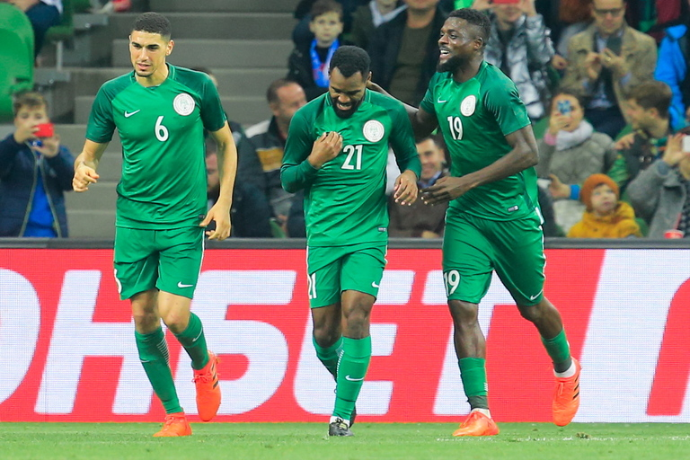 World Cup 2018 Group D contains Nigeria who are pictured celebrating a goal against Argentina
