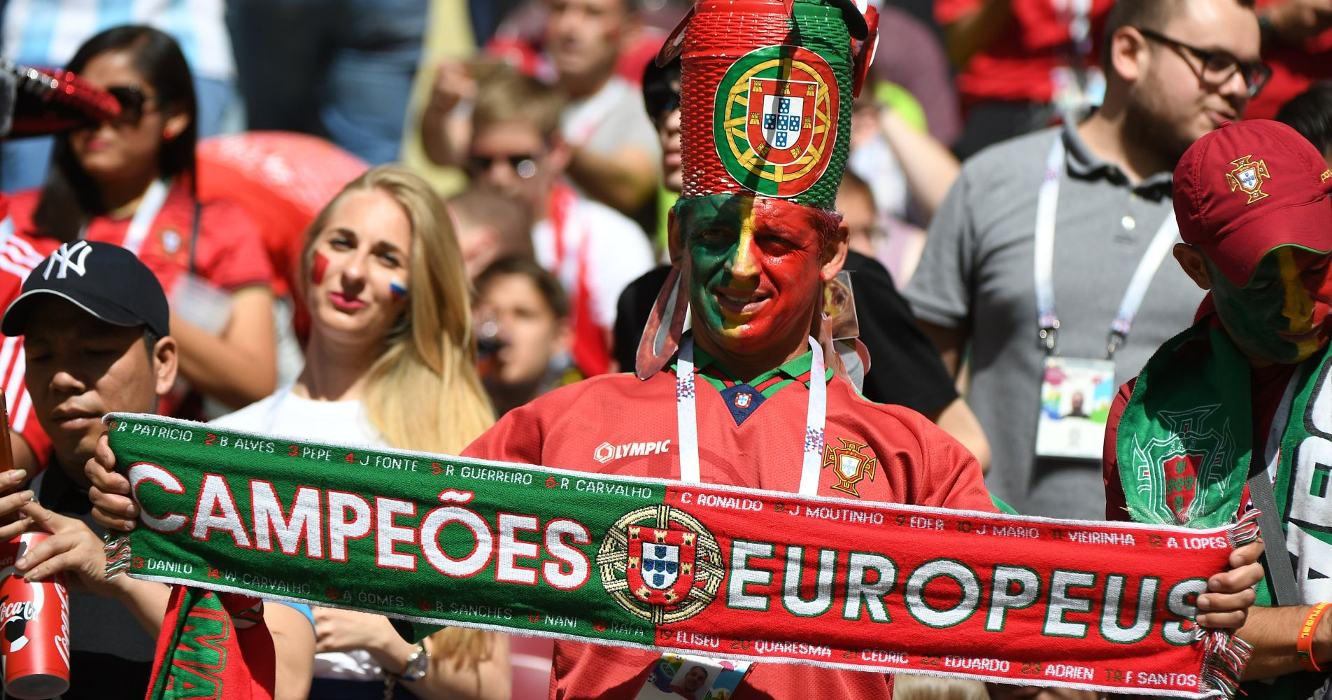 A Portugal fan reminds us who the current champions of Europe are