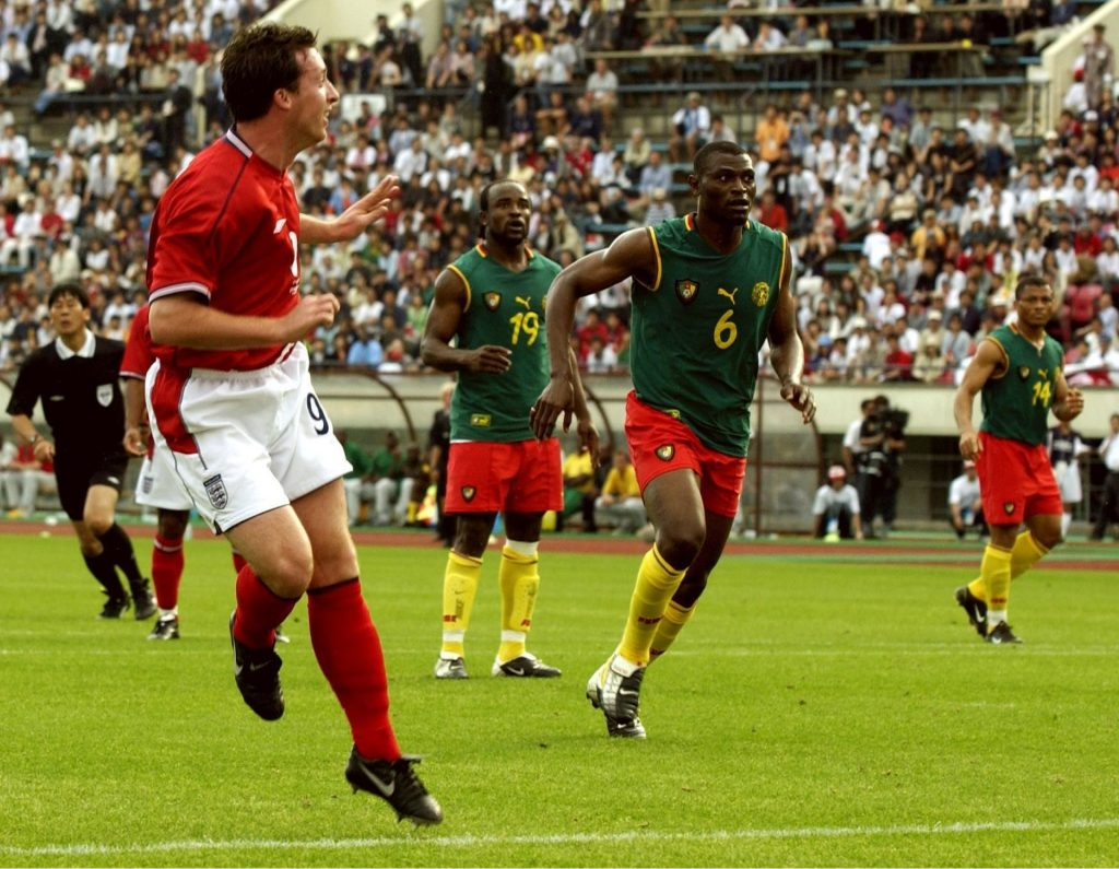 Robbie Fowler equalises against Cameroon the last time England failed to win their last pre-tournament friendly - bodes well for our England v Costa Rica betting tips