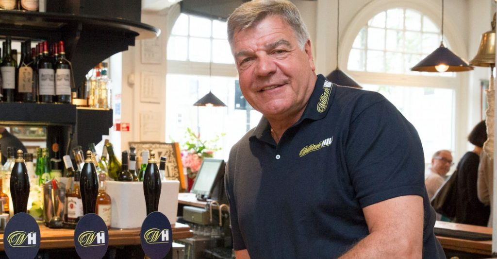 Sam Allardyce at the William Hill Arms