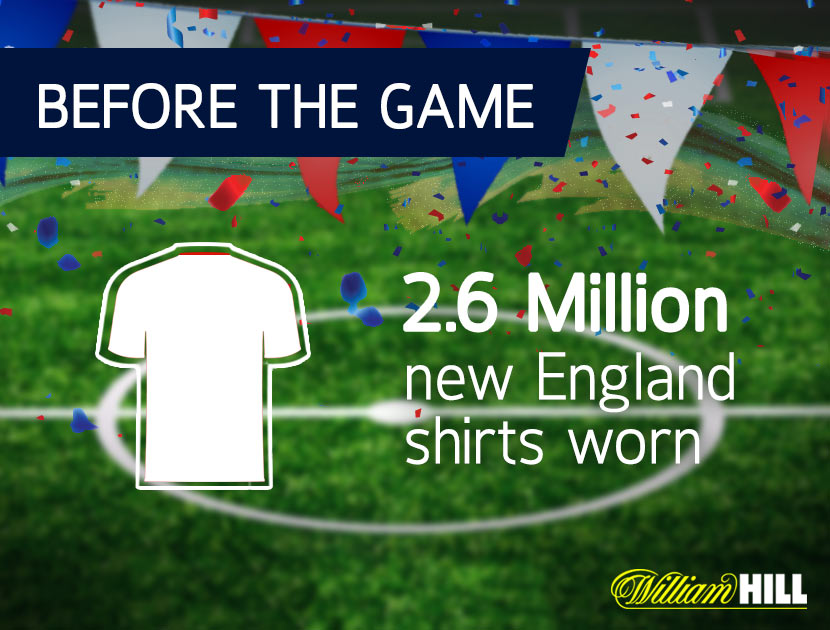 How many England Shirts are worn during the World Cup