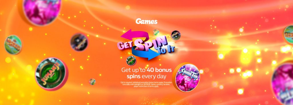 Get Spin To It - Up to 40 Bonus Spins per day