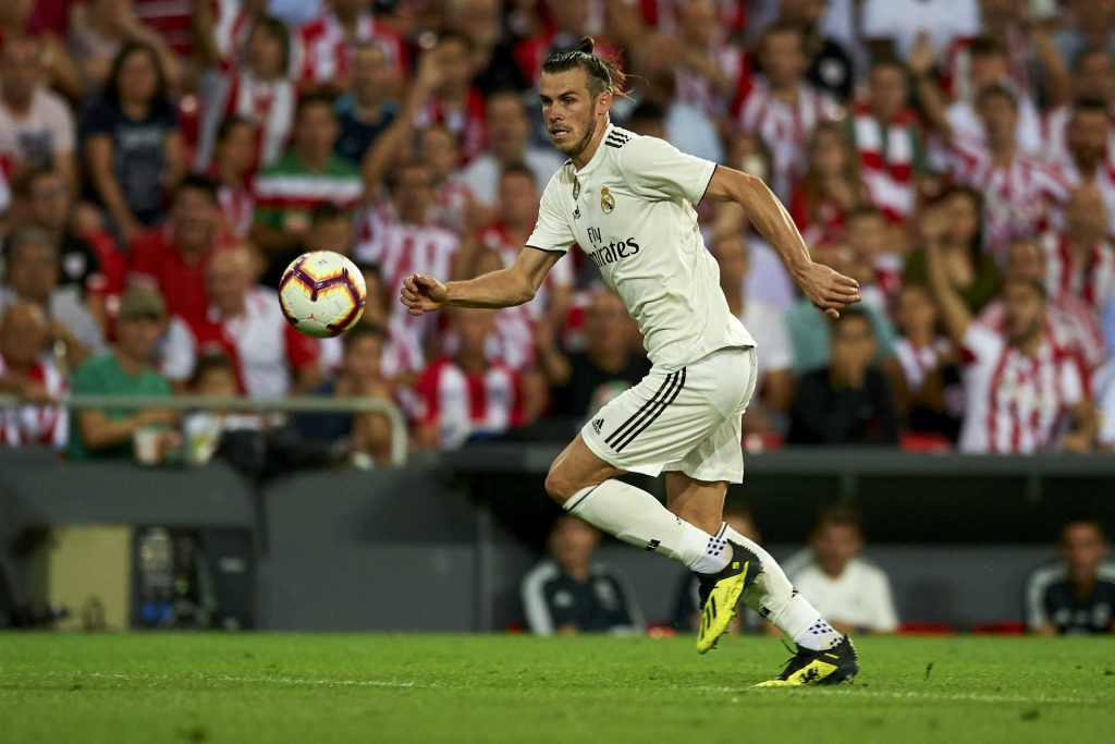 Gareth Bale scoring against Athletico, tipped to score as part of our Real Madrid vs Roma predictions