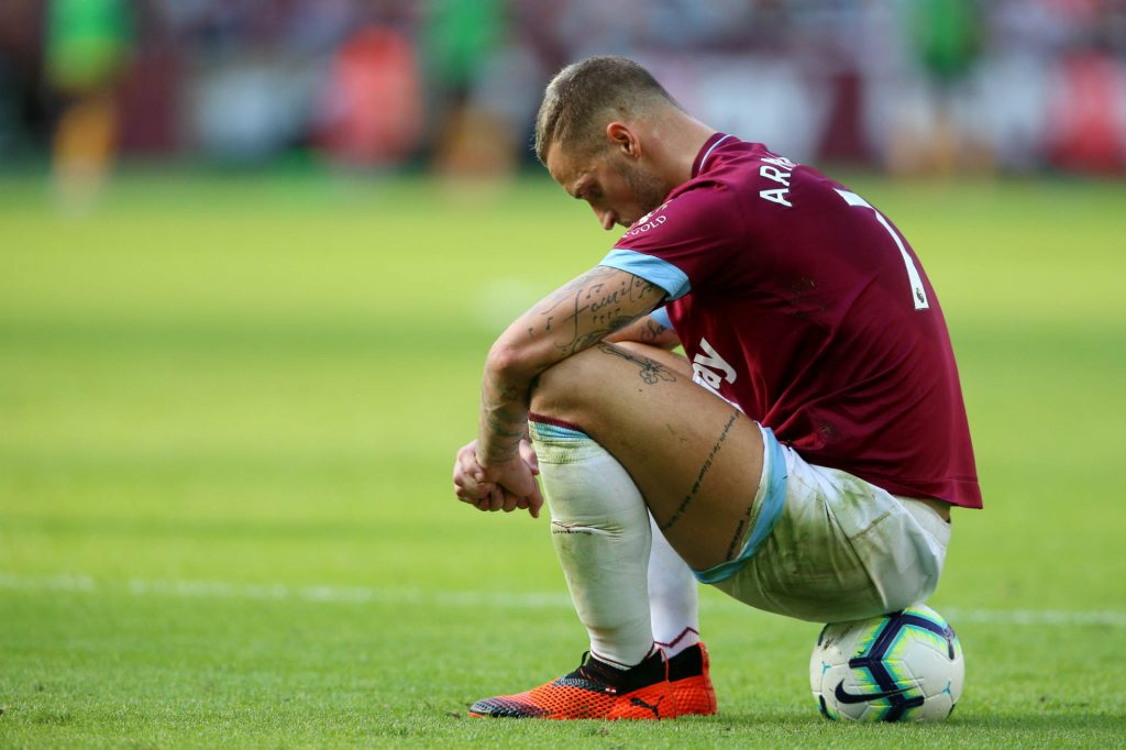Arnautovic pondering defeat against Liverpool, and has been tipped to score as part of our West Ham vs Chelsea predictions