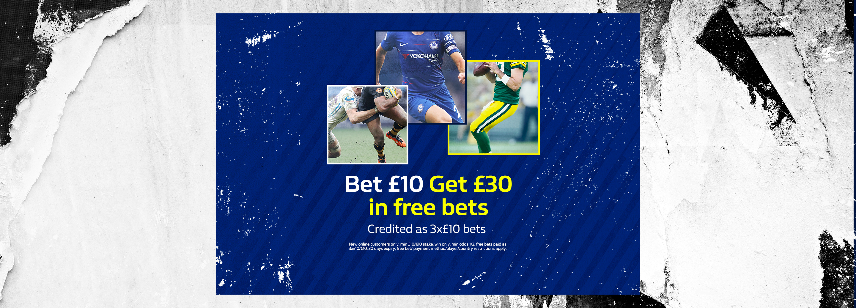 Bet £10 and get £30 | New customers get free bets with