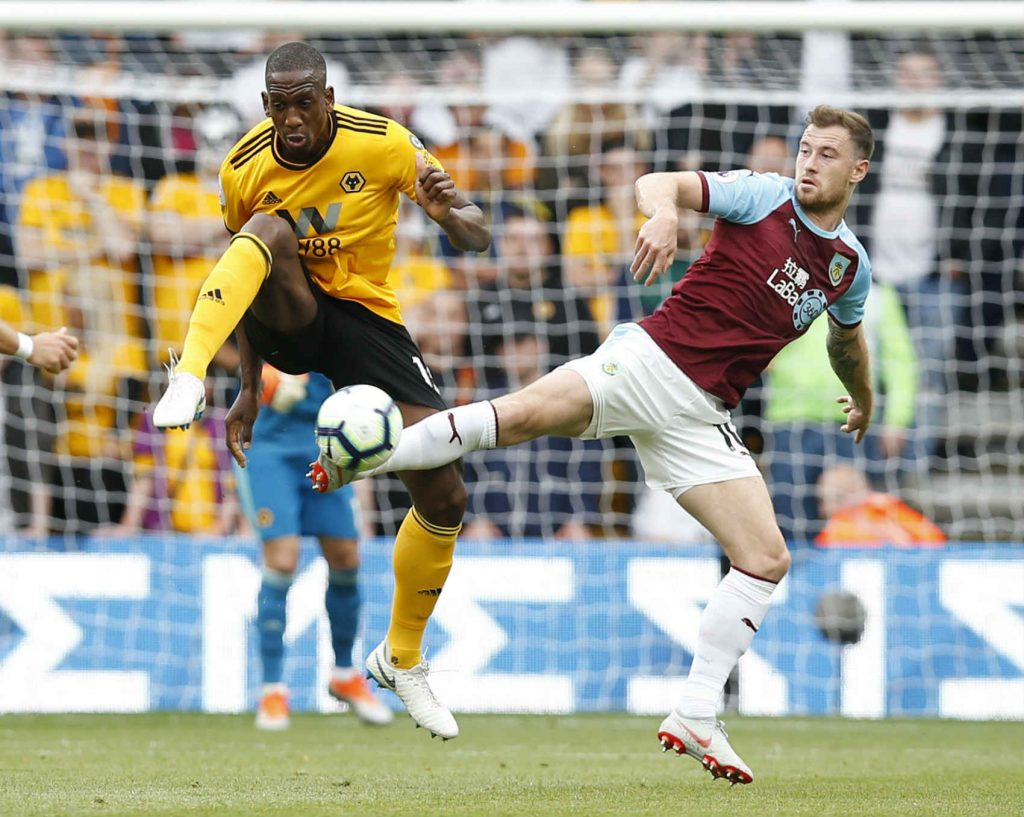Willy Boly tackling against west Ham. We've tipped him to defend well as part of our Man United vs Wolves predictions