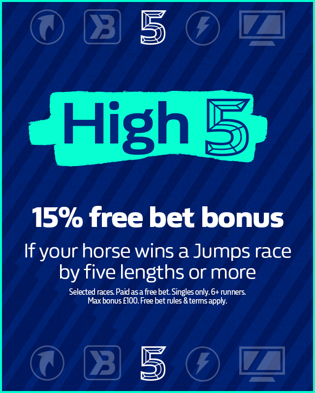 High 5 free bet bonuses