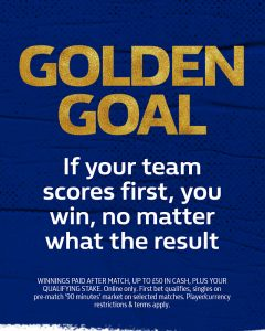 Golden Goal from William Hill: a football betting offer that gives