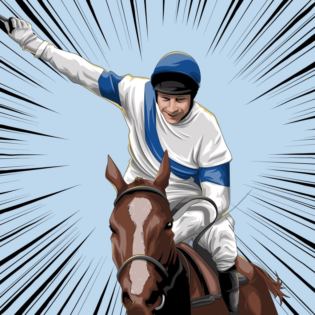 1981 Jockey Bob Champion wins after cancer diagnosis illustration