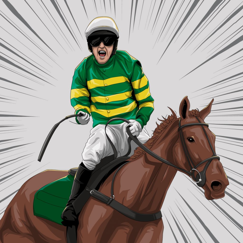 2010 Tony McCoy's iconic Grand National win illustration